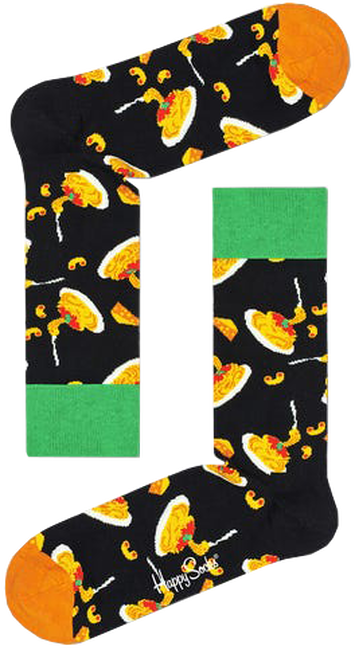 Zwarte HAPPY SOCKS Sokken MAC & CHEESE  - large