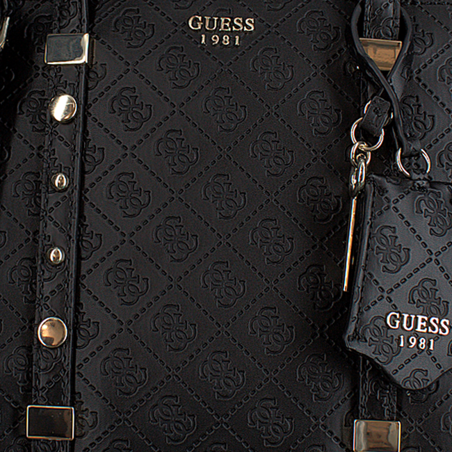 Zwarte GUESS Handtas COAST TO COAST STATUS SATCHEL - large