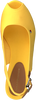 Gele TOMMY HILFIGER Espadrilles ICONIC ELBA SLING BACK WEDGE  - small