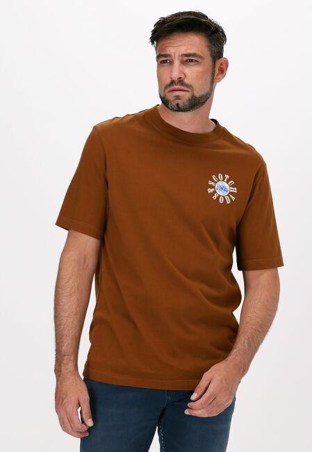 Bruine SCOTCH & SODA T-shirt GRAPHIC LOGO REGULAR FIT T-SHI  - large