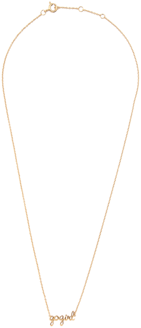 Gouden ALLTHELUCKINTHEWORLD Ketting URBAN NECKLACE GOGIRL - large