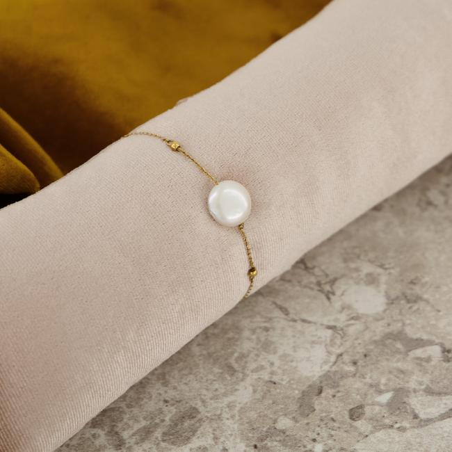 Gouden NOTRE-V Armband ARMBAND GROTE PAREL  - large