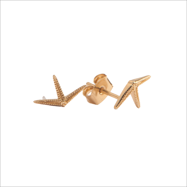 Gouden ATLITW STUDIO Oorbellen PARADE EARRINGS STARFISH HALF - large