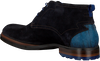 Blauwe FLORIS VAN BOMMEL Veterschoenen 10947 - small