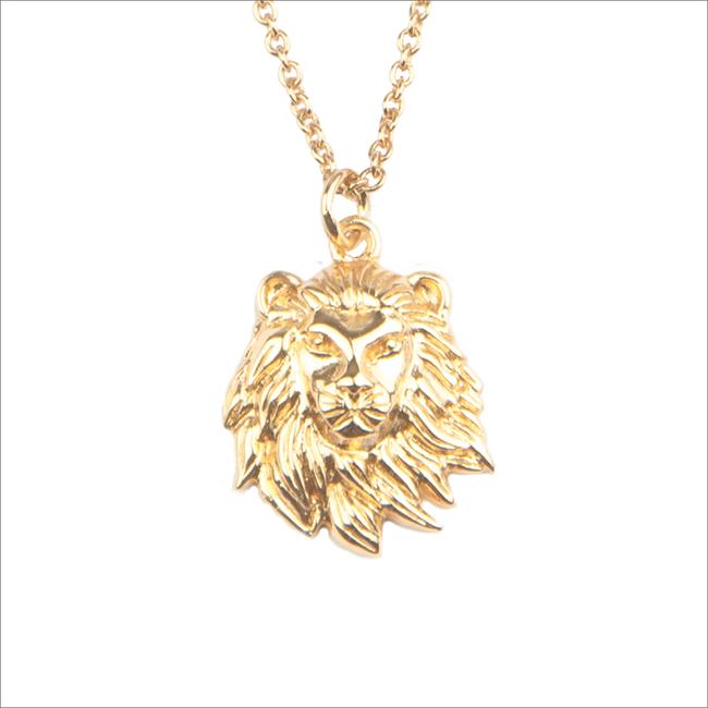 Gouden ATLITW STUDIO Ketting SOUVENIR NECKLACE LION - large