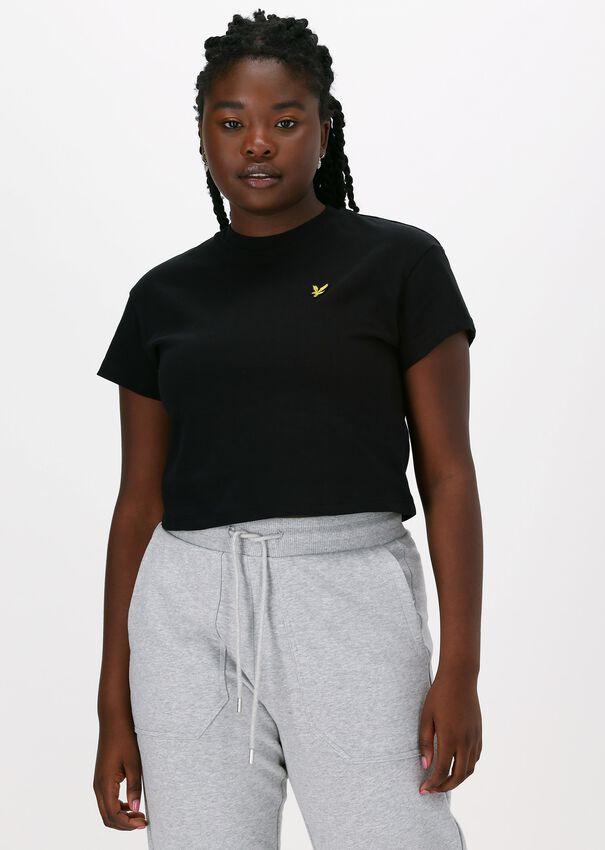 Zwarte LYLE & SCOTT T-shirt CROPPED T-SHIRT  - larger
