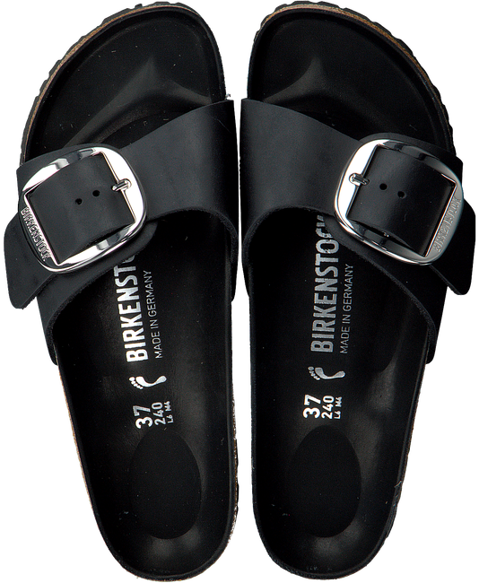 Zwarte BIRKENSTOCK PAPILLIO Slippers MADRID BIG BUCKLE MSC4LPu6