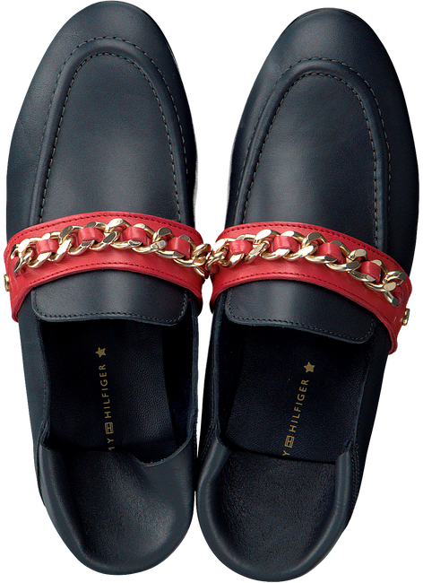 blauwe TOMMY HILFIGER Loafers CHAIN DETAIL CORPORATE LOAFER  - large