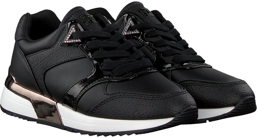 Zwarte GUESS Lage sneakers MOTIV  - larger