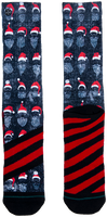 Grijze XPOOOS Sokken XMAS BEARD RULES  - medium