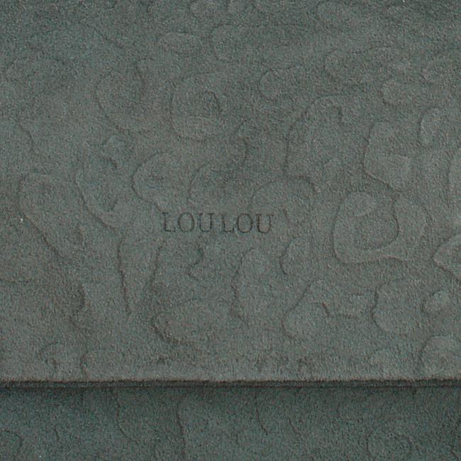Groene LOULOU Essentiels Clutch LOVELY LEOPARD - large