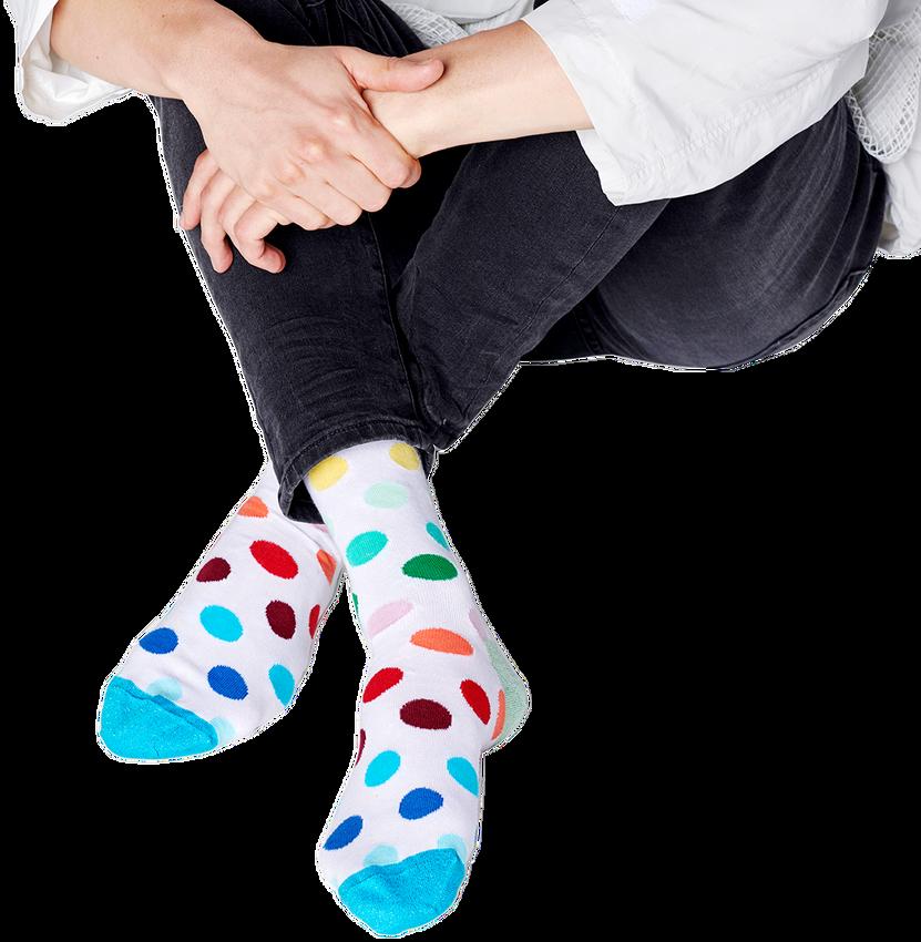 Witte HAPPY SOCKS Sokken PRIDE BIG DOT  - larger