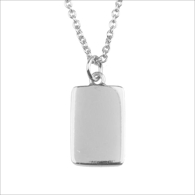 Zilveren ALLTHELUCKINTHEWORLD Ketting SOUVENIR NECKLACE RECTANGLE - large