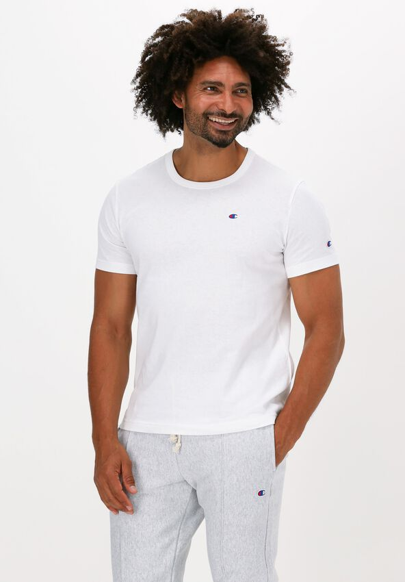 Witte CHAMPION T-shirt SMALL C LOGO T-SHIRT - larger