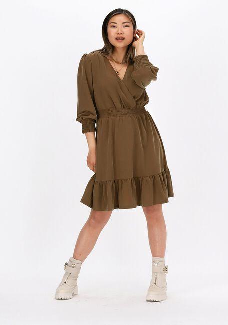 Bruine OBJECT Mini jurk DIANE - large