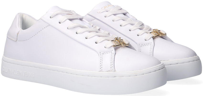 Witte CALVIN KLEIN Lage sneakers CUPSOLE SNEAKER LACEUP  - larger