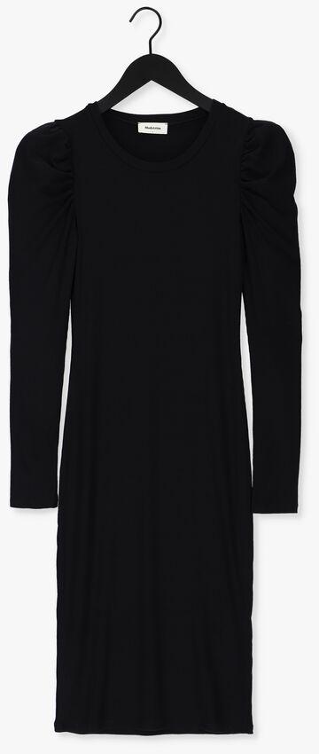 Zwarte MODSTRÖM Midi jurk LENA DRESS - larger