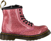 Roze DR MARTENS Veterboots 1460 GLITTER STARS  - small