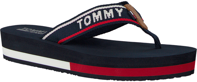 blauwe TOMMY HILFIGER Slippers TOMMY JEANS MID BEACH SANDAL  - large