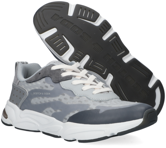 Grijze SCOTCH & SODA Lage sneakers LOU  - large