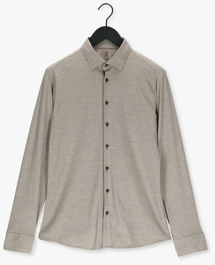 Taupe DESOTO Casual overhemd KENT 1/1  - larger