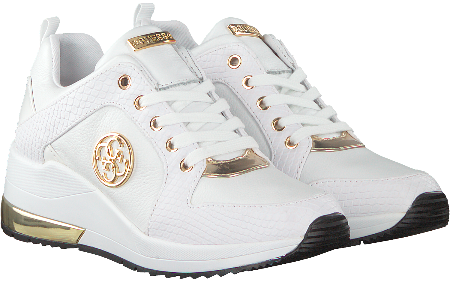 e73bf5e2a1b Witte GUESS Sneakers JARYD - Omoda.nl