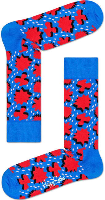Blauwe HAPPY SOCKS Sokken COMIC RELIEF - large