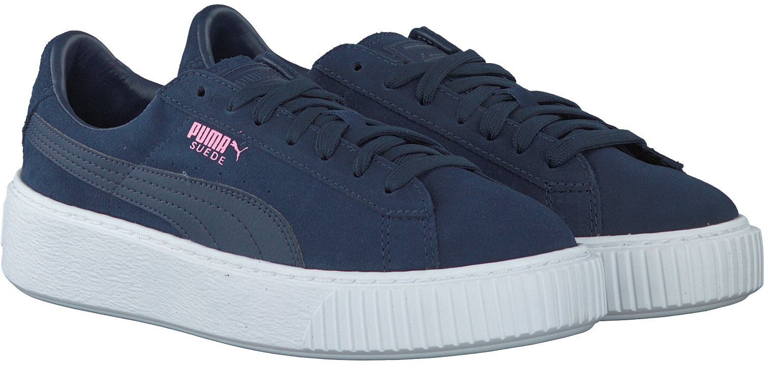 4d37fef5bb8 Blauwe PUMA Sneakers SUEDE PLATFORM JR - large. Next
