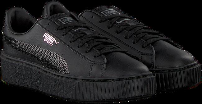 Zwarte PUMA Sneakers BASKET PLATFORM BLING JR - large