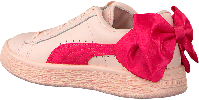Roze PUMA Sneakers BASKET BOW AC PS - large