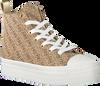 Beige GUESS Hoge sneaker BOKAN  - small