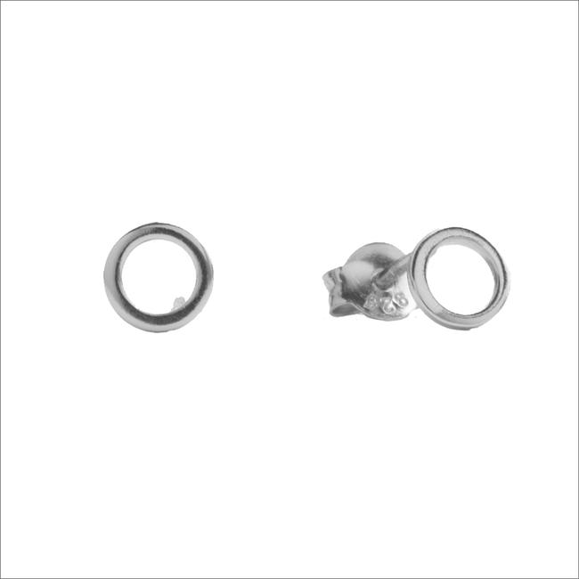 Zilveren ATLITW STUDIO Oorbellen PARADE EARRINGS OPEN CIRCLE - large