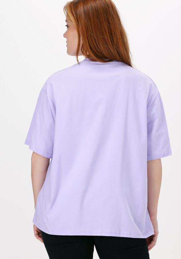 Lila NA-KD T-shirt ORGANIC LOGO OVERSIZED TEE  - larger