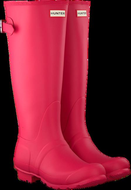 Roze HUNTER Regenlaarzen BACK ADJUSTABLE - large