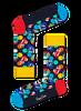 Zwarte HAPPY SOCKS Sokken ROLLING STONES - small