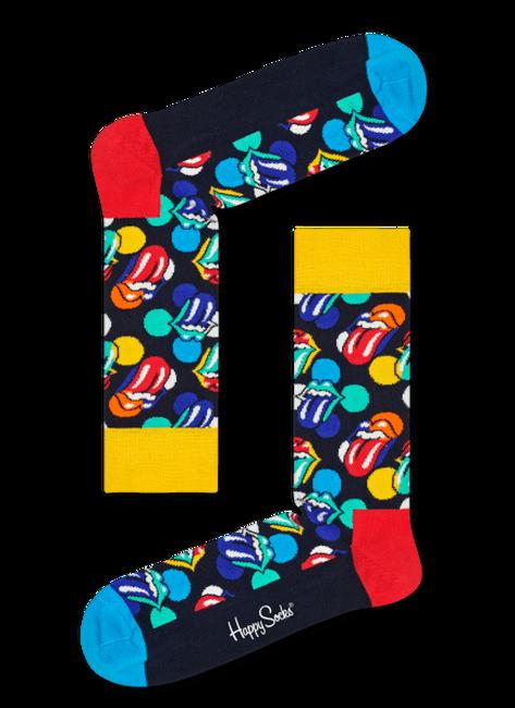Zwarte HAPPY SOCKS Sokken ROLLING STONES - large