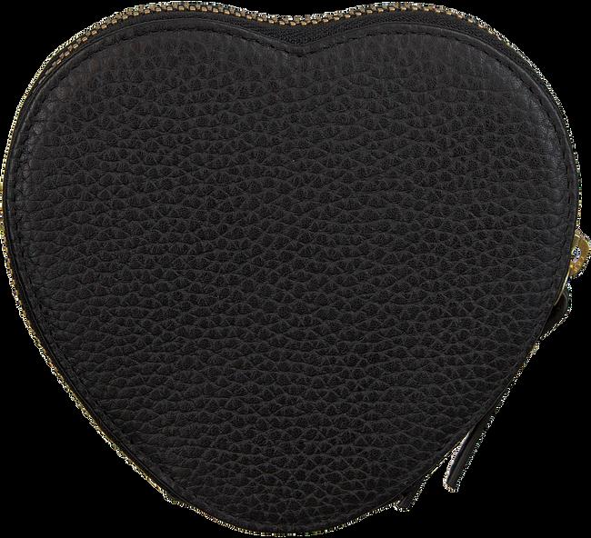 Zwarte LOULOU ESSENTIELS Portemonnee HEART WALLET  - large