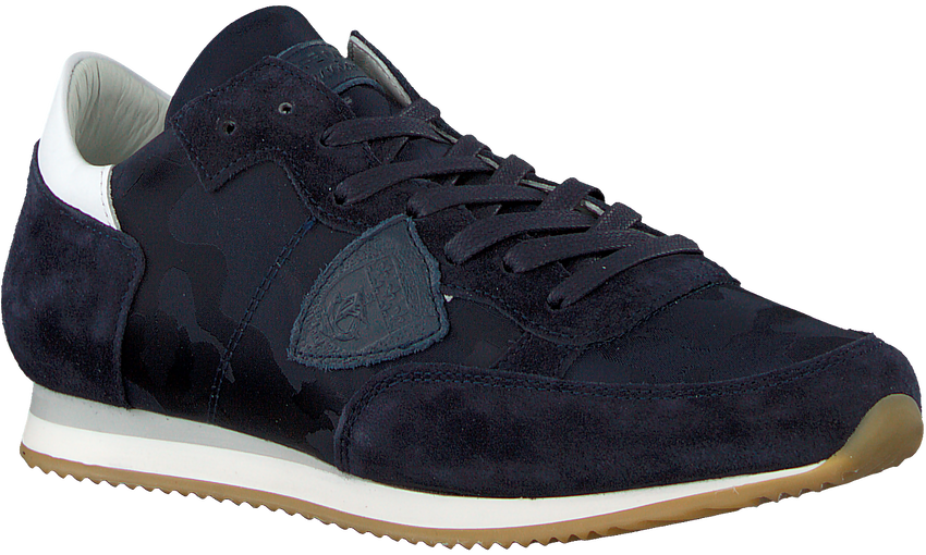 Blauwe PHILIPPE MODEL Sneakers TROPEZ CAMOUFLAGE  - larger