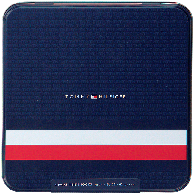 Blauwe TOMMY HILFIGER Sokken TH MEN MIXED DOTS GIFTBOX 4P  - large