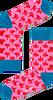 Roze HAPPY SOCKS Sokken THUMBS UP SOCK  - small