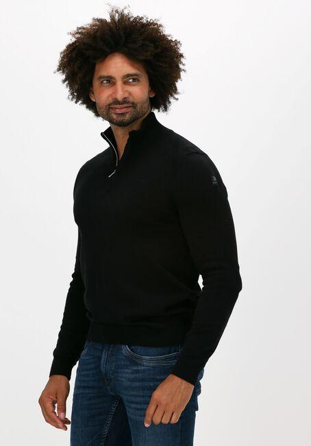 Zwarte VANGUARD Sweater HALF ZIP COLLAR PIMA COTTON - large