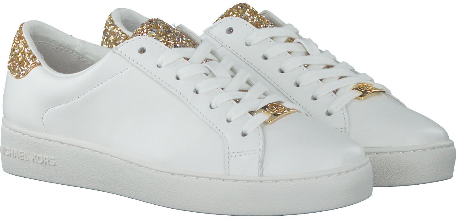 caf16f7ce26 Witte MICHAEL KORS Sneakers IRVING LACE UP - Omoda.nl