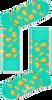 Groene HAPPY SOCKS Sokken PIZZA SOCK - small