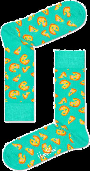 Groene HAPPY SOCKS Sokken PIZZA SOCK - large