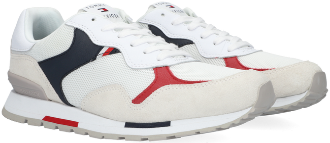 Witte TOMMY HILFIGER Lage sneakers RETRO RUNNER MIX  - large