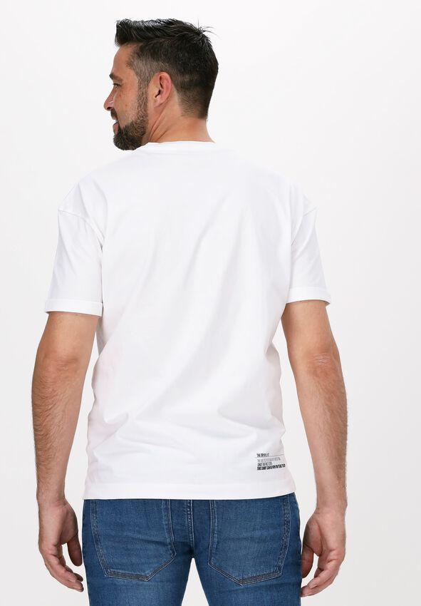 Witte DRYKORN T-shirt THILO_ELLIPSE 522007  - larger