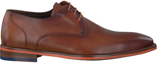 Cognac FLORIS VAN BOMMEL Nette schoenen 18014  - large