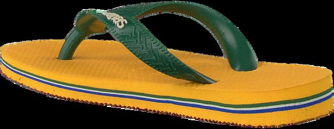 Gele HAVAIANAS Slippers BRASIL LOGO KIDS  - large