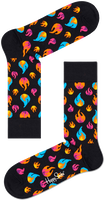Zwarte HAPPY SOCKS Sokken FLAMES SOCK  - medium