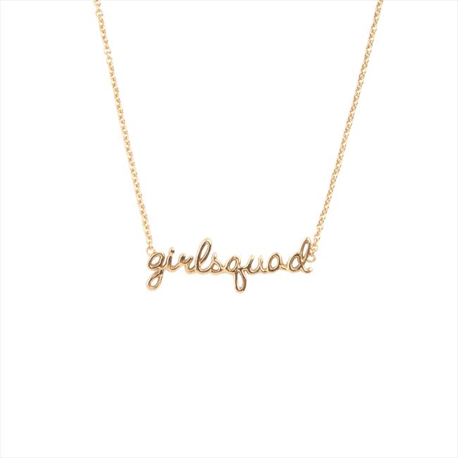Gouden ALLTHELUCKINTHEWORLD Ketting URBAN NECKLACE GIRLSQUAD - large
